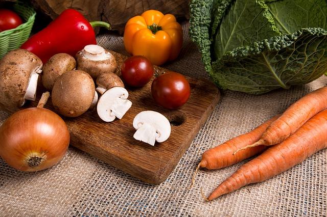 pieczarki i warzywa